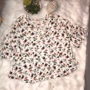 Mossimo Floral Peasant Top